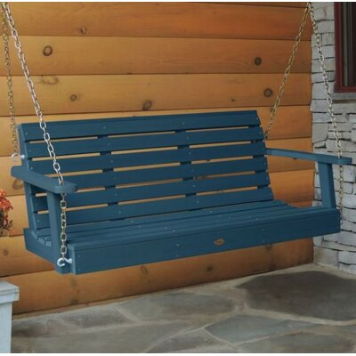 Weatherly Porch Swing Size: 20 H x 64 W x 24 D, Color: Nantucket Blue