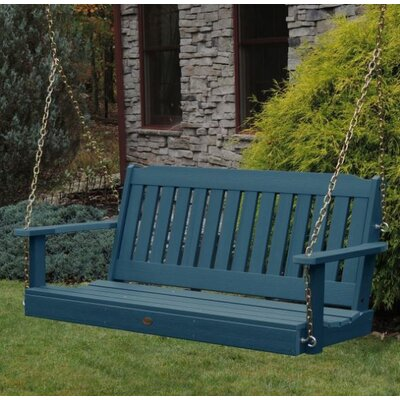 Amelia Porch Swing Size: 52, Finish: Nantucket Blue