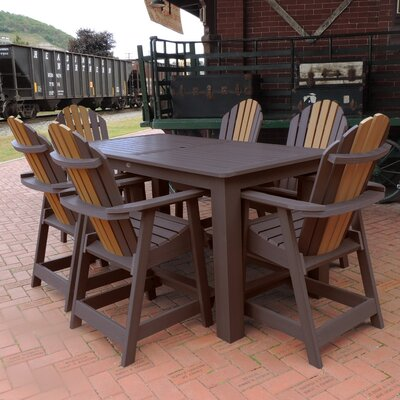 Deerpark 7 Piece Counter Height Dining Set Finish: Weathered Acorn/Toffee