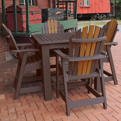 Deerpark 5 Piece Square Counter Height Dining Set Finish: Weathered Acorn/Toffee