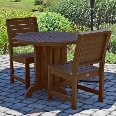 Berry 3 Piece Bistro Set Finish: Weathered Acorn