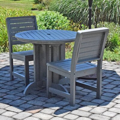Berry 3 Piece Bistro Set Finish: Coastal Teak