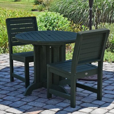 Berry 3 Piece Bistro Set Finish: Charleston Green