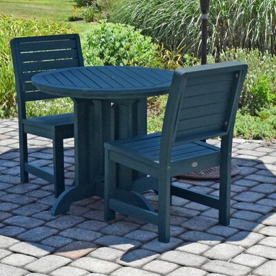 Berry 3 Piece Bistro Set Finish: Nantucket Blue