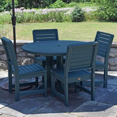 Berry 5 Piece Dining Set Finish: Nantucket Blue