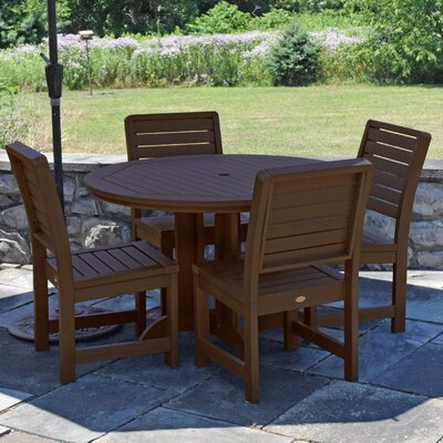 Berry 5 Piece Dining Set Finish: Weathered Acorn