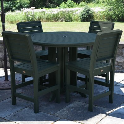 Berry 5 Piece Counter Height Dining Set Finish: Charleston Green