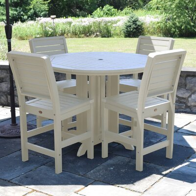 Berry 5 Piece Counter Height Dining Set Finish: Whitewash