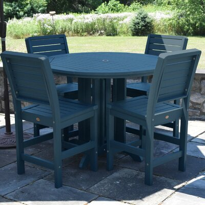 Berry 5 Piece Counter Height Dining Set Finish: Nantucket Blue
