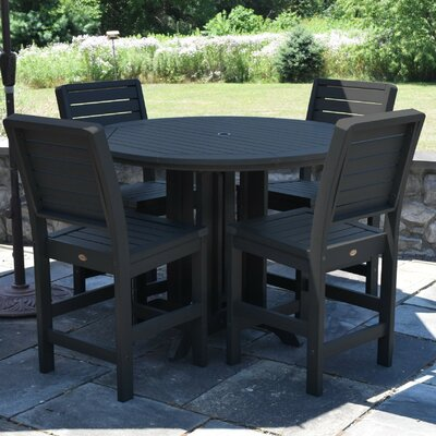 Berry 5 Piece Counter Height Dining Set Finish: Black