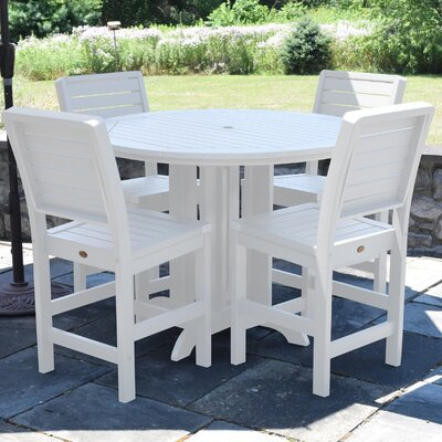 Berry 5 Piece Counter Height Dining Set Finish: White