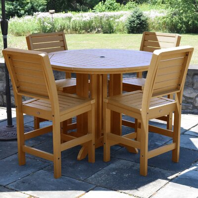 Berry 5 Piece Counter Height Dining Set Finish: Toffee