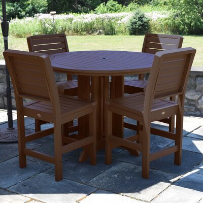Berry 5 Piece Counter Height Dining Set Finish: Weathered Acorn