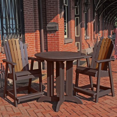 Deerpark 3 Piece Counter Height Bistro Set Finish: Weathered Acorn/Toffee