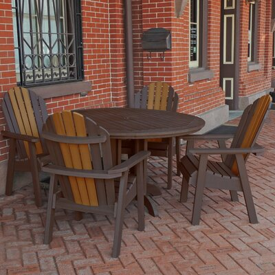 Deerpark 5 Piece Dining Set Finish: Weathered Acorn/Toffee