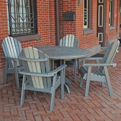 Deerpark 5 Piece Dining Set Finish: Coastal Teak/Whitewash