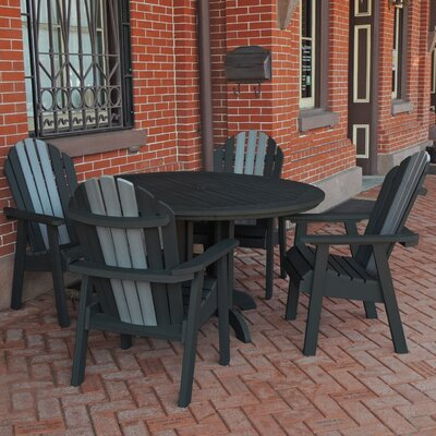 Deerpark 5 Piece Dining Set Finish: Black/Coastal Teak