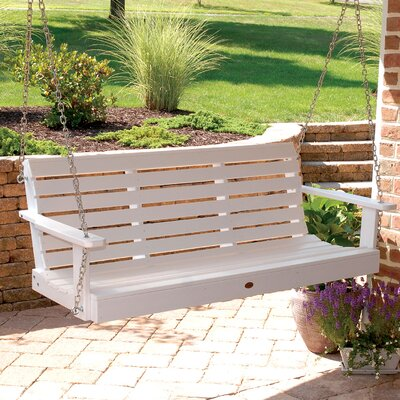 Weatherly Porch Swing Color: White, Size: 20 H x 64 W x 24 D