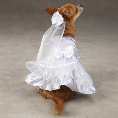 Wedding Wear on Yappily Ever After Dog Wedding Dress