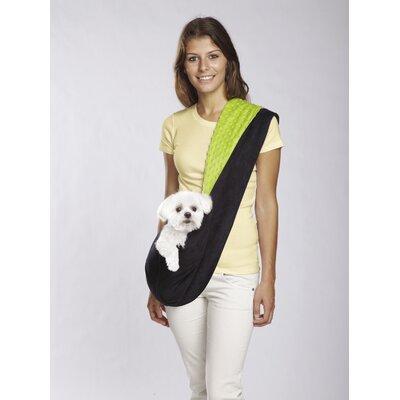 Reversible Sling Dog Carrier Color: Black / Green