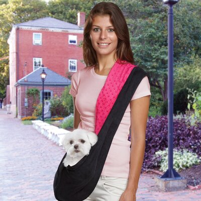 Reversible Sling Dog Carrier Color: Black / Pink