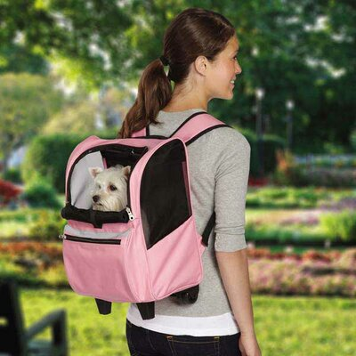 On The Go Rolling Pet Carrier Color: Pink