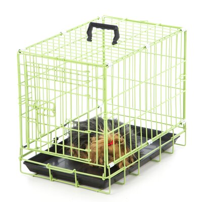 Colorful Wire Pet Crate Size: Medium / Large (25 H x 36 W x 22 D), Color: Pink Punch
