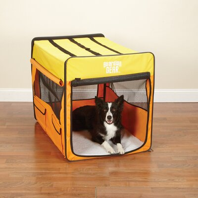 Collapsible Pet Crate Size: Large - Org / Yellow