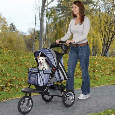 Sprinter EXT II Dog Jogger Pet Stroller Color: Steel Blue