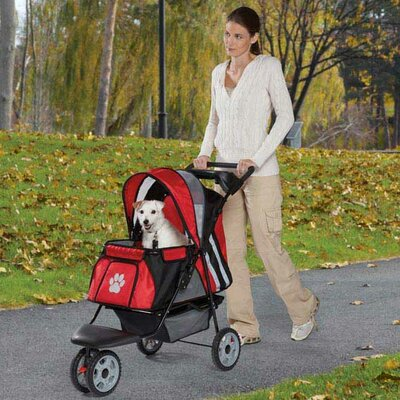 Roadster II Dog Jogger Pet Stroller Color: Red