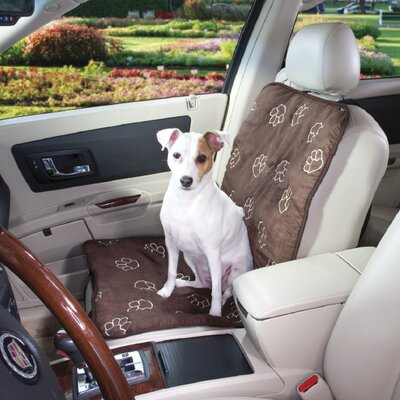 Pawprint Single Car Seat Cover Color: Chocolate