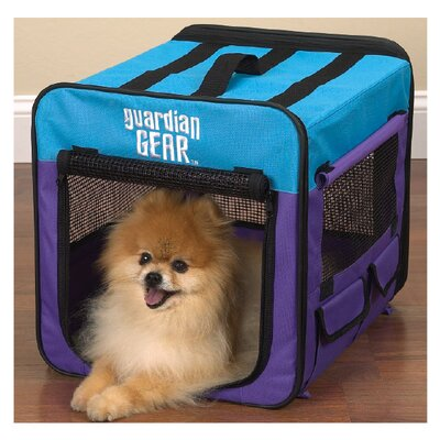 Collapsible Pet Crate Size: Small - Pink / Green