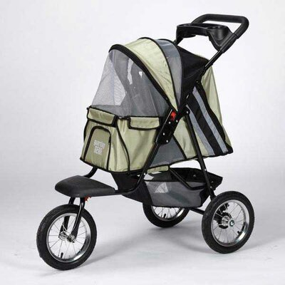 Sprinter EXT II Dog Jogger Pet Stroller Color: Sage Green