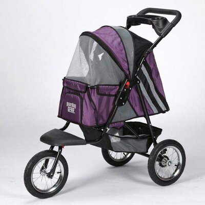 Sprinter EXT II Dog Jogger Pet Stroller Color: Plum