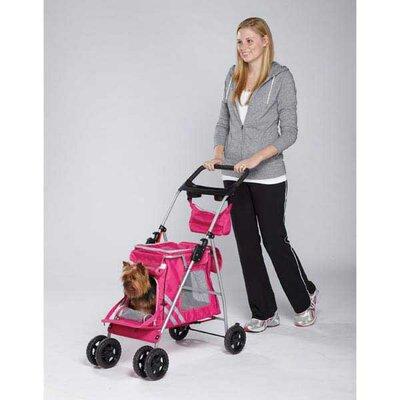Classic II Dog Standard Pet Stroller Color: Magenta