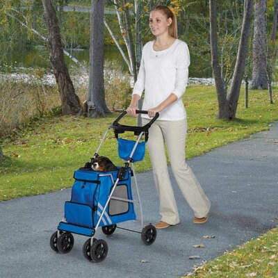 Classic II Dog Standard Pet Stroller Color: Royal Blue