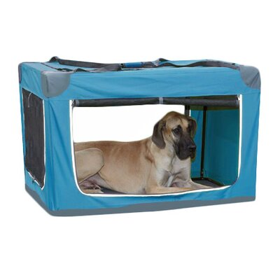 Pioneer Soft Pet Carrier Color: Green, Size: Large (27 H x 27 W x 40 L)
