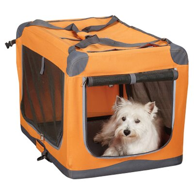 Pioneer Soft Pet Carrier Color: Orange, Size: Small (20 H x 20 W x 28 L)