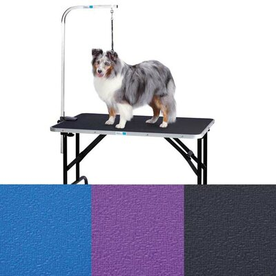 Dog Grooming Table with Arm Size: 30 H x 23 W x 48 L