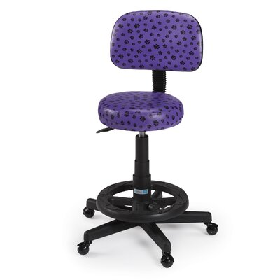 Pawprint Deluxe Grooming Stool Finish: Purple