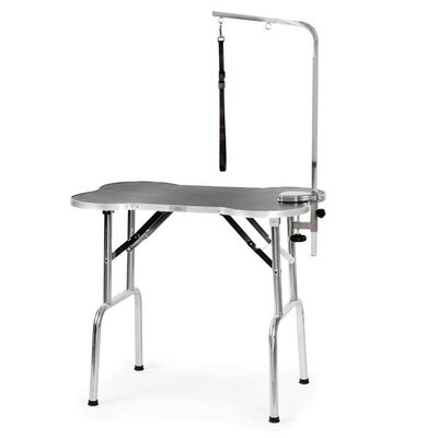 Bone-Shaped Folding Grooming Table Size: 45.5 H x 26.5 W x 7 D