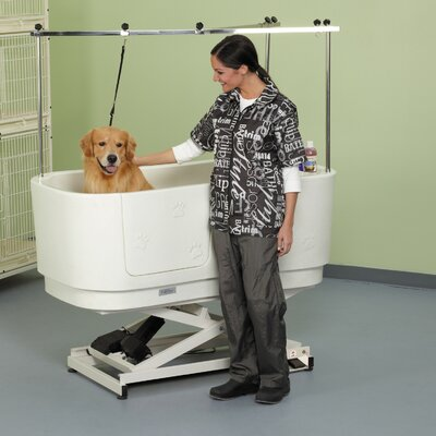 Poly Pro Lift Grooming Tub Finish: White