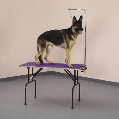 Groom Table Color: Purple, Size: 4.5 H x 26.8 W x 50.3 D