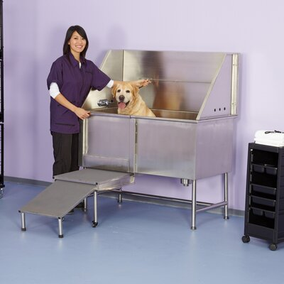 48 Superior Stainless Plumbed Dog Tub Orientation: Left