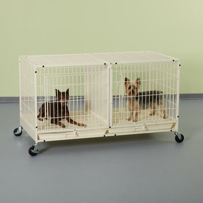 Modular Pet Crate Size: 23.75 H x 47.5 W x 23.63 D