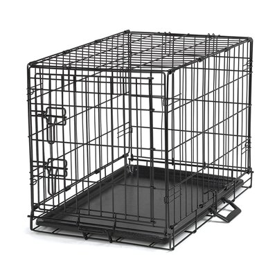 Easy Pet Crate Size: X-Small (15 H x 12.5 W x 18 L), Color: Black