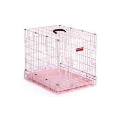 Pastel Pet Crate Color: Petal Pink, Size: X-Small ( 15 H x 18 W x 12.5 L)