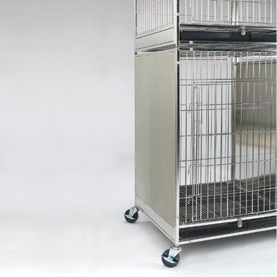 Modular X-Tall Cage Side Panel Color: Stainless Steel