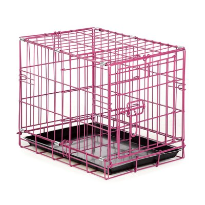 Easy Pet Crate Size: Medium (22 H x 19 W x 30 L), Color: Pink
