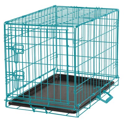 Easy Pet Crate Size: Large (25 H x 22.5 W x 36 L), Color: Aqua